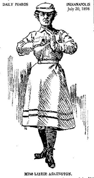 Figure 2. Miss Lizzie Arlington, pitcher in 1898.