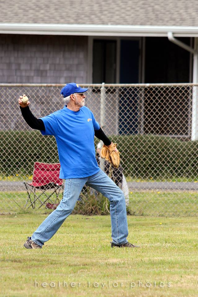 Figure 4. Extremely old guy trying to pitch. Undoubtedly, the oldest baseball player ever.*